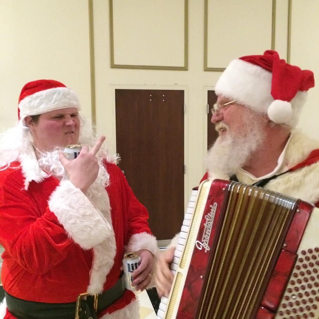 Musical Santa Stare-down